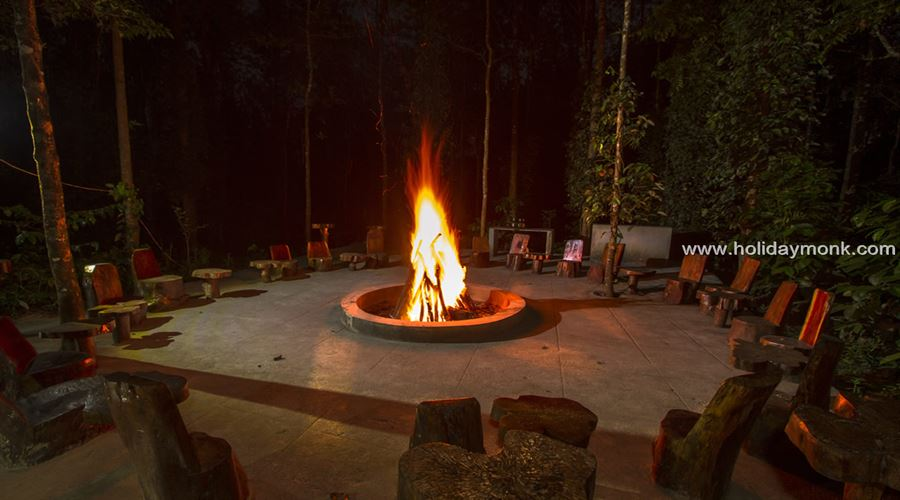 Bonfire evening at homestay